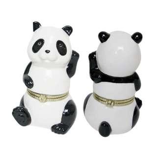 陶瓷熊貓做型首飾盒