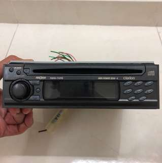 Car Radio CD Player ; Audio entertainment system; Brand: Clarion for Perodua Kenari Car Model; size: 7 inch wide x 2 inch tall x 6.75 inch deep; good condition