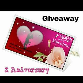 Give away aniversary