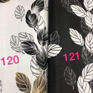 Wallpaper dinding motif daun salur
