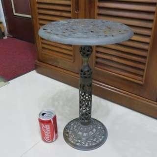 早期收藏銅製古董雕花椅子,花盆架,電話架,可分開,好收納,銅椅