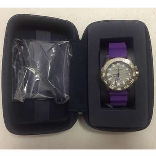 Nautica NSR 20 Sports Silver Dial Ladies Watch (Purple)