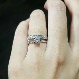 ring Replika berlian wedding Raisa mirip aslinya