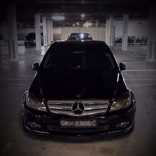 WEDDING CAR RENTAL(W/DRIVER): Mercedes-Benz C180K (Black)