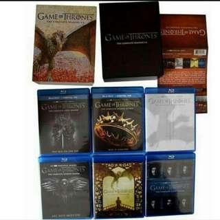 Game Of Thrones Season 1 To 6 Complete 27 Discs Bluray boxset