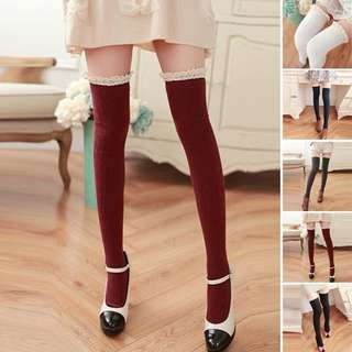 Stocking leging renda