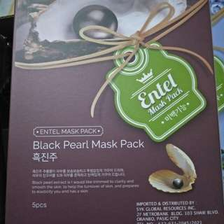 Black pearl face mask