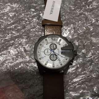 全新DIESEL皮帶手錶(三眼仔)
