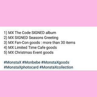 ATTENTION! Monsta X goods