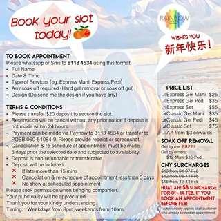 CNY Homebased Medicure Service