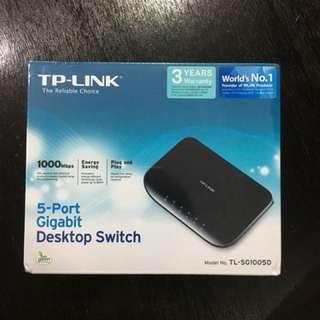 TP-LINK 1000mbps 5-port Gigabit Desktop Switch