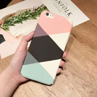 PC Hard Colorful Marble Case Cover iphone 6 6s plus 7 7 plus 1