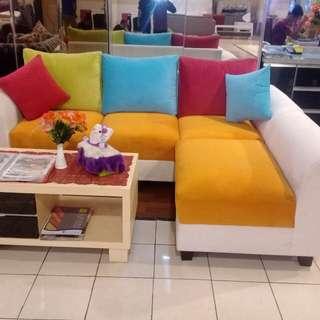 Sofa l putus baru datang minimalis