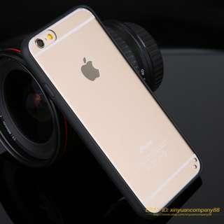 CLEAR Transparent Hard Back Soft Gel Bumper Case Cover Iphone 7 7 plus