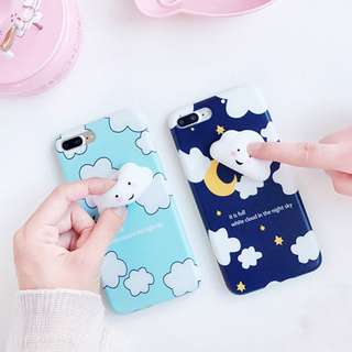 3D Silicon Cloud Case cover Soft TPU Squishy iPhone 6 6s 7 plus cute