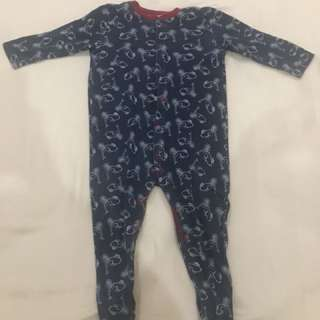 Sleepsuit Mothercare 6-9 boy