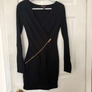 Black zippered dress