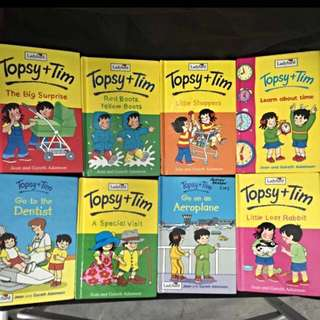 Set Of 8 children's Book - Topsy +Tim -Ladybird Series