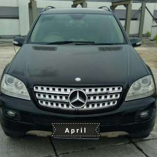 Mercedes Benz ML 350 AT 2009 black metalik