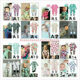 B0ndsIns Sleepsuit Ready Stock