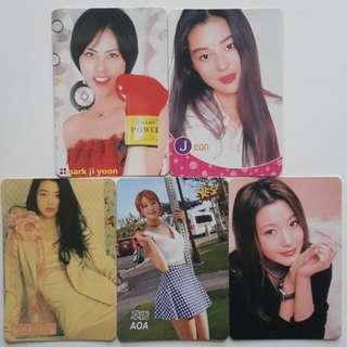 韓國女星 5張卡 ( 100 )