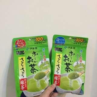 🚚 ✔️全新 日本帶回 伊藤園抹茶粉