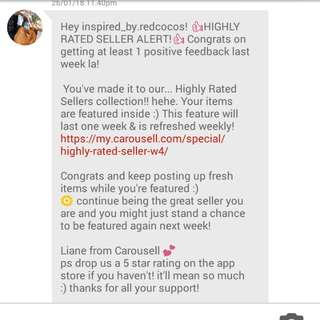#WEEK4 Thanks carousell