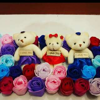 Cute little soap rosses with bear