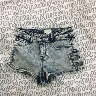 Forever 21 Denim Side Cut Shorts Size XS (US 24)