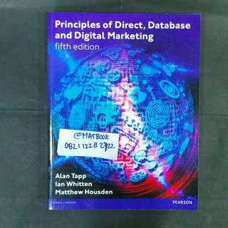PRINCIPLES OF DIRECT, DATABASE AND DIGITAL MARKETING 5ED