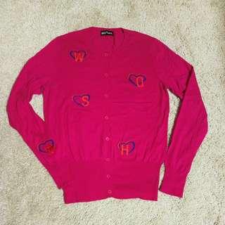 過新年New連卡佛Fine Wool pink cardigan 冷外套 from Lane Crawford size 38/M