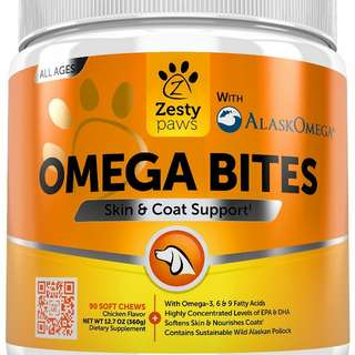 Omega Doggy Treats for Skin & Coat Support