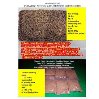 Molting Food Supplement For Birds