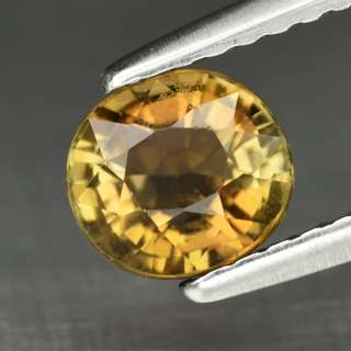 0.91ct Oval Natural Yellow Tourmaline