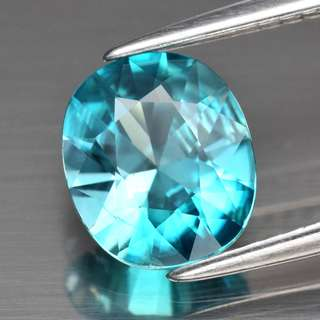 1.92ct Oval Natural Medium Blue Zircon