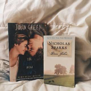 YA books (The Fault in our Stars, Dear John)