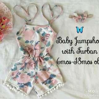 Floral jumpshort  for babies