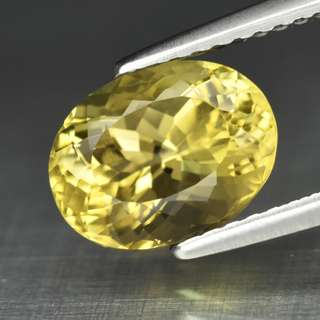 2.13ct Ova Natural Yellow Tourmaline