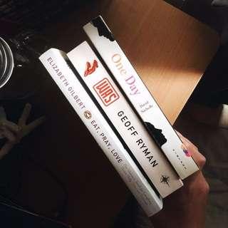 Pre-loved Books (One Day, Eat Pray Love, etc.)