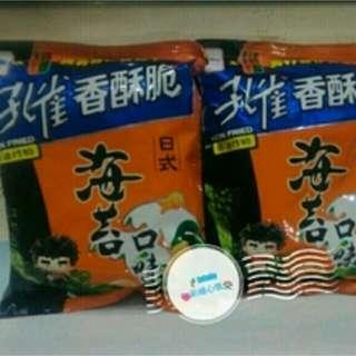 (免運)孔雀香酥脆--日式海苔(2包)