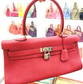 Hermes Kelly shoulder 紅粉色
