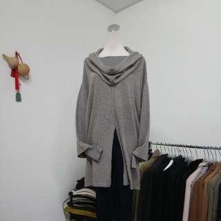 🇮🇹義大利製 假兩件蠶絲VS羊毛鬆領時尚毛衣