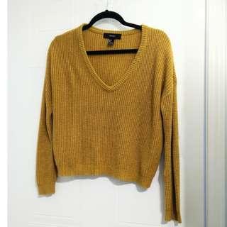 Yellow Knit Sweater (S)