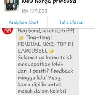 Thanks carousell..Thanks my custommers
