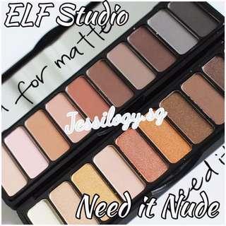 NEW! INSTOCK ELF Cosmetics Need It Nude Eyeshadow Palette / e.l.f. Cosmetics Eyeshadow Palette Collection in Need it Nude