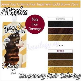 INSTOCK Missha 7 Days Temporary Hair Coloring Dye in GOLD YELLOW / Missha 7 Days Coloring Treatment in Gold Yellow
