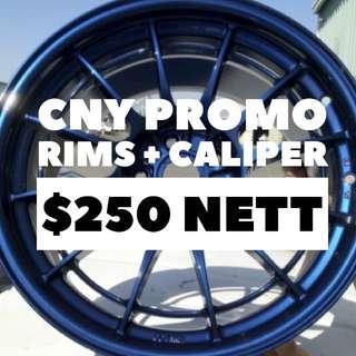 CNY PROMO Rims spray caliper