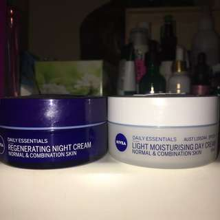 Nivea Daily essentials light moisturising cream and regenerating night cream