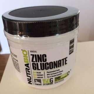 Zinc Gluconate Supplement NutraBio 150g powder