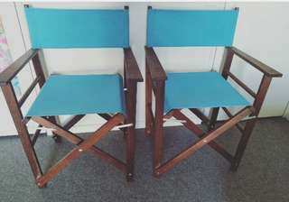 2 X Outdoor Folding Chairs (sold as set for $55)